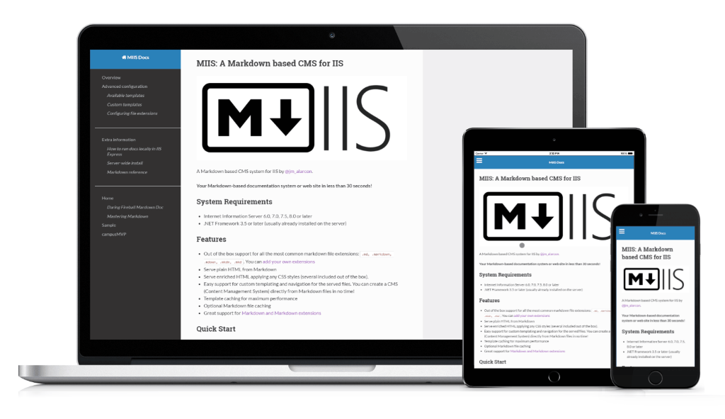 Out Of The Box Templates Miis File Based Cms For Iis Azure